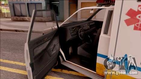 Brute Ambulance GTA V for GTA San Andreas inner view