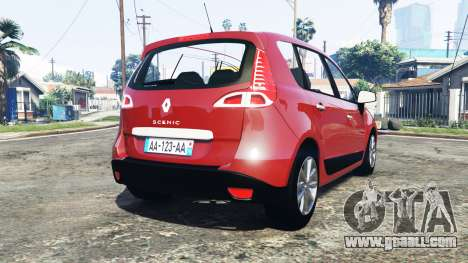GTA 5 Renault Scenic (JZ) 2009 [replace] rear left side view