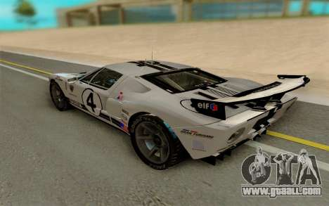 Ford GT LM Gran Turismo for GTA San Andreas right view