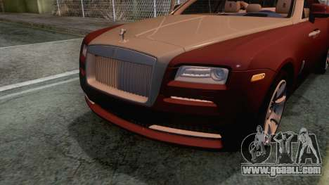 Rolls-Royce Wraith 2014 Coupe for GTA San Andreas side view