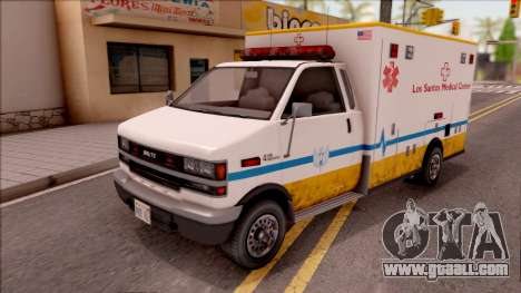 Brute Ambulance GTA V for GTA San Andreas