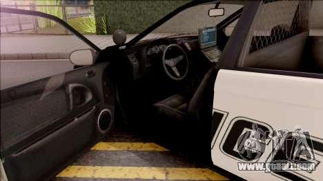 GTA V Karin Kuruma Interceptor for GTA San Andreas inner view