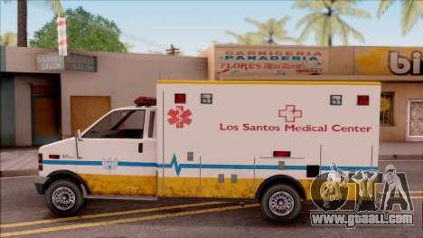 Brute Ambulance GTA V for GTA San Andreas left view