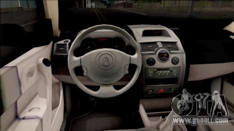 Renault Megane Guardia Civil Spanish for GTA San Andreas inner view
