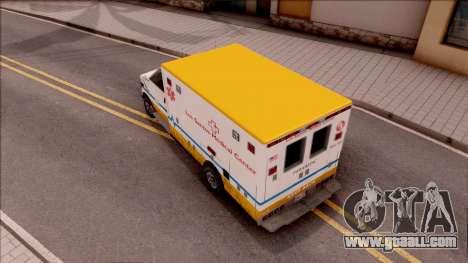 Brute Ambulance GTA V for GTA San Andreas back view