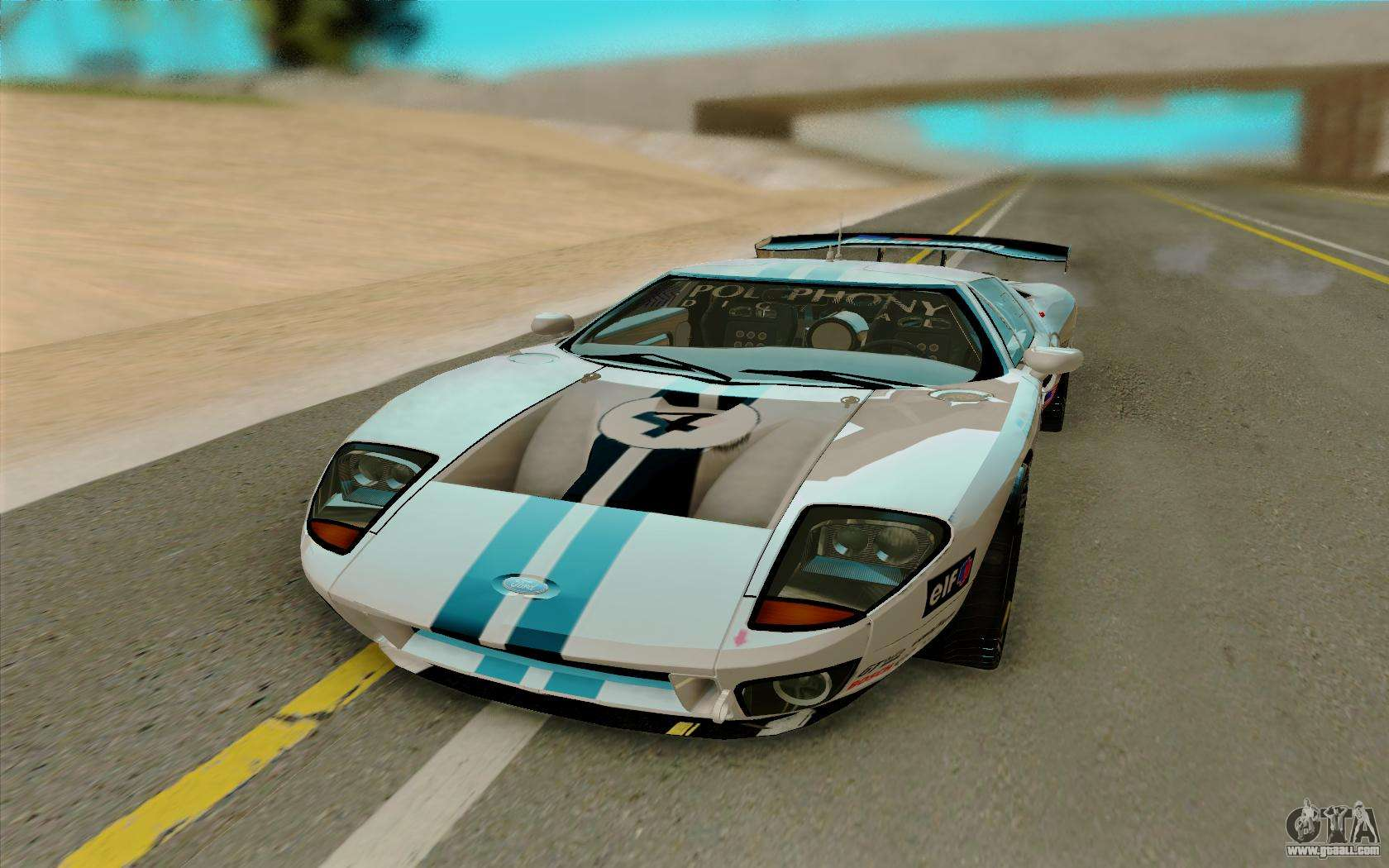 Ford Gt Lm Gran Turismo For Gta San Andreas Back View