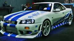 Nissan Skyline GT-R34 3.0 for GTA 5