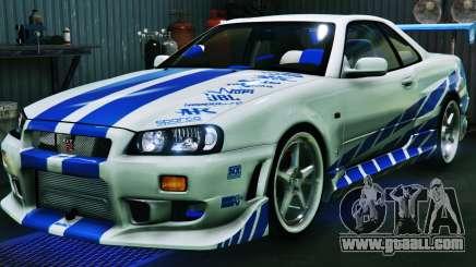 Nissan Skyline GT-R34 3.0 for GTA 5