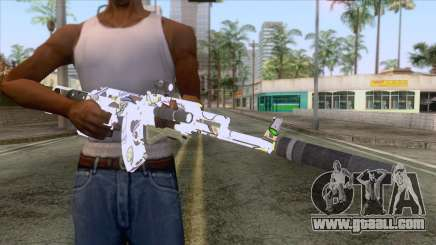 CoD: Black Ops II - AK-47 Kawaii Skin v2 for GTA San Andreas