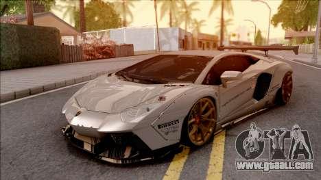 Lamborghini Aventador Liberty Walk 2012 for GTA San Andreas