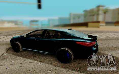 Toyota Camry 2018 for GTA San Andreas right view