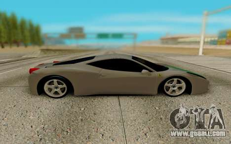 Ferrari Italia 458 for GTA San Andreas left view