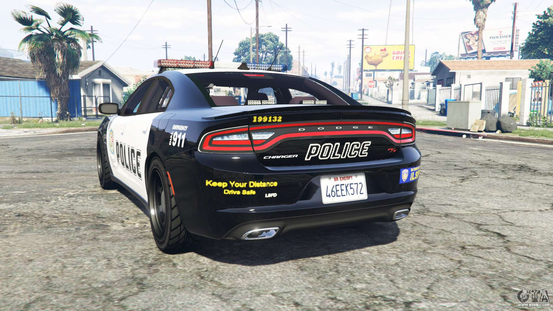 Dodge Charger RT 2015 Police v2.0 [replace] for GTA 5 2015 Police Charger