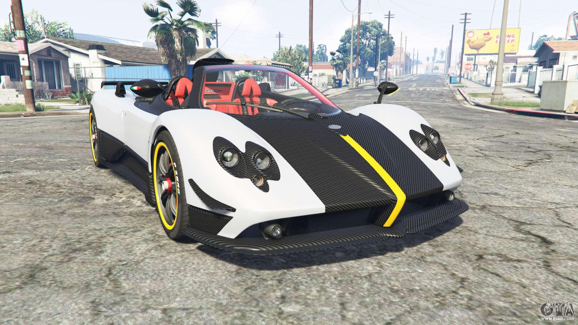 Pagani Zonda Cinque roadster 2009 [rep] for GTA 5