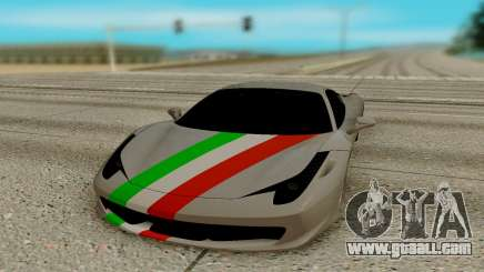 Ferrari Italia 458 for GTA San Andreas