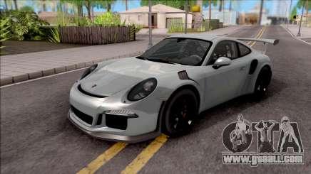 Porsche 911 GT3 RS 2016 SA Plate for GTA San Andreas