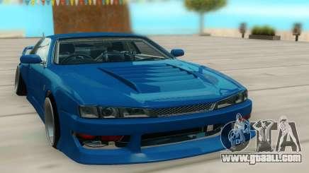 Nissan Silvia S14 синий for GTA San Andreas