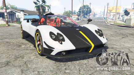 Pagani Zonda Cinque roadster 2009 [replace] for GTA 5