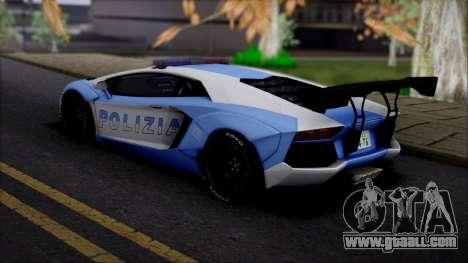 Lamborghini Aventador v2 for GTA San Andreas left view