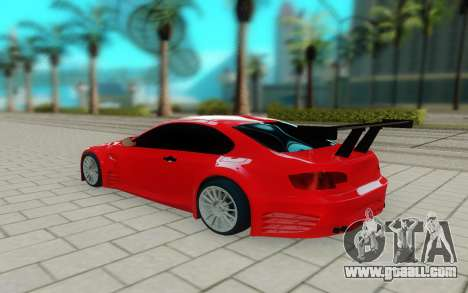 BMW M3 GTS for GTA San Andreas back left view