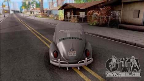 Volkswagen Beetle 1969 for GTA San Andreas back left view
