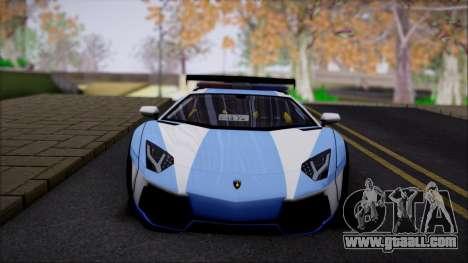 Lamborghini Aventador v2 for GTA San Andreas back view