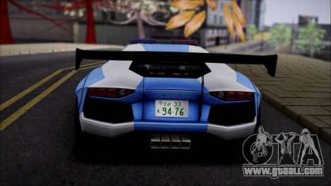 Lamborghini Aventador v2 for GTA San Andreas right view