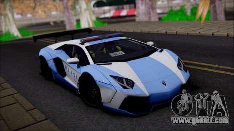 Lamborghini Aventador v2 for GTA San Andreas back left view