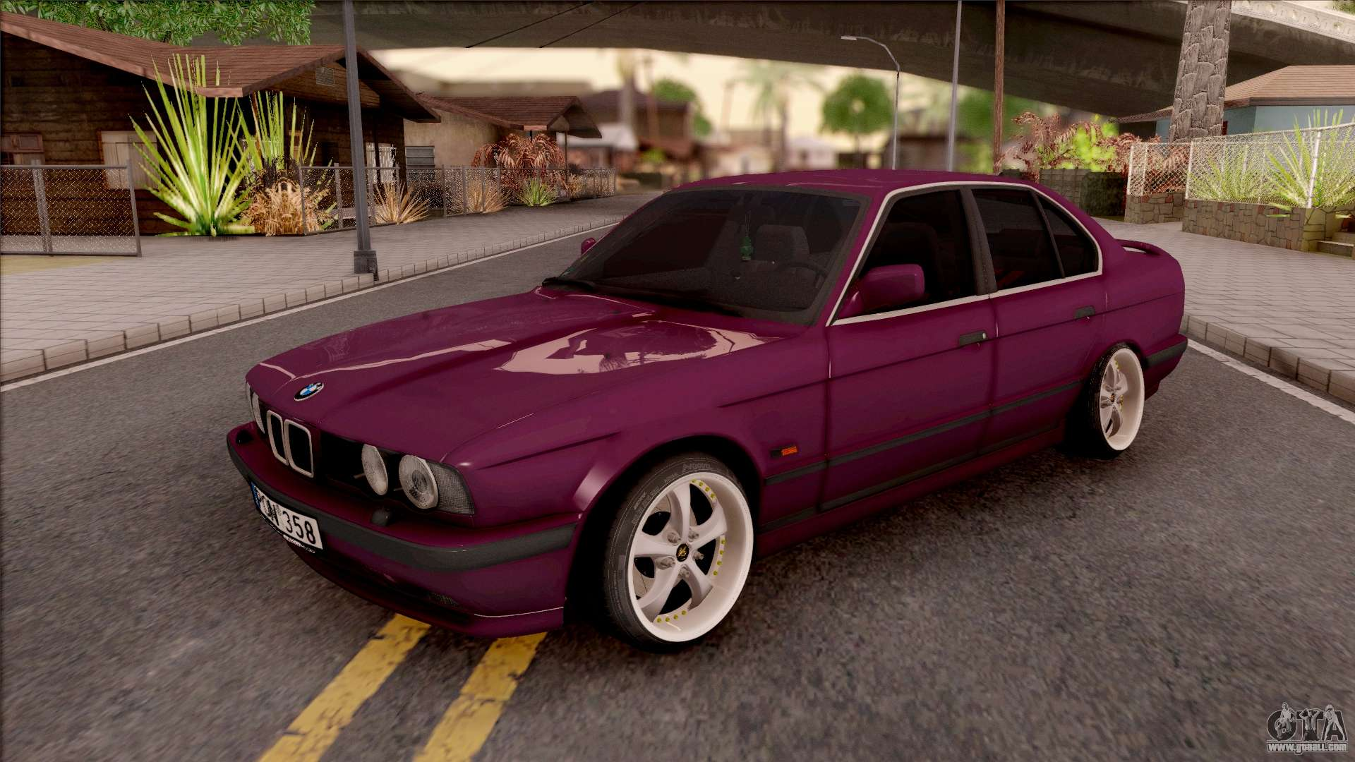 bmw e34 520i sedan stance version for gta san andreas. Black Bedroom Furniture Sets. Home Design Ideas