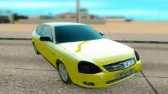 Lada Priora yellow for GTA San Andreas