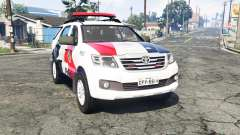 Toyota Fortuner 2014 brazilian police [replace] for GTA 5