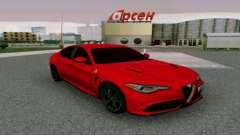 Alfa Romeo Giulia Burgundy for GTA San Andreas