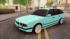 BMW 5-er E34 Touring Stance Vossen for GTA San Andreas