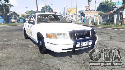 Ford Crown Victoria 1999 Sheriff v1.2 [replace] for GTA 5