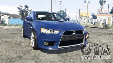 Mitsubishi Lancer Evolution X [replace] for GTA 5