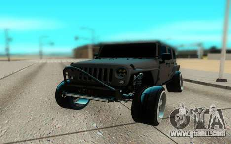 Jeep Rubicon 2012 V3 for GTA San Andreas back view