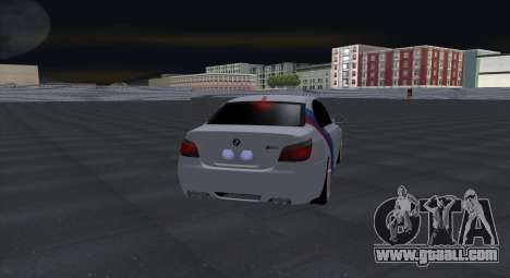 BMW M5 E60 SS (SmotraStyle) for GTA San Andreas back view