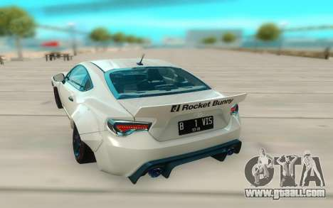 Toyota GT86 RB Ft Rotiform Permaisuri for GTA San Andreas back view