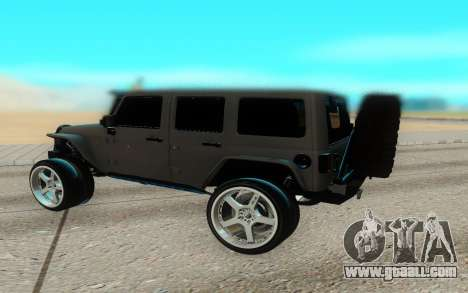 Jeep Rubicon 2012 V3 for GTA San Andreas back left view