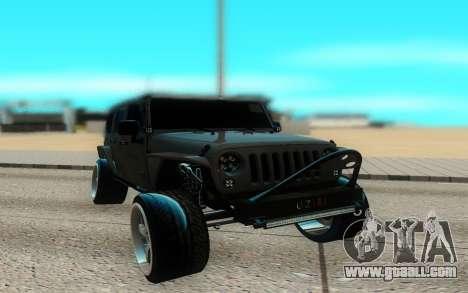 Jeep Rubicon 2012 V3 for GTA San Andreas