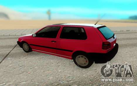 Volkswagen Golf Mk3 for GTA San Andreas right view