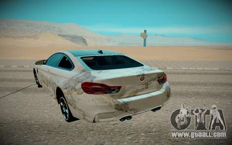 BMW M4 TR for GTA San Andreas back view