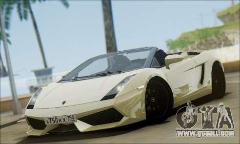 Lamborghini Gallaro 2005 Spyder for GTA San Andreas