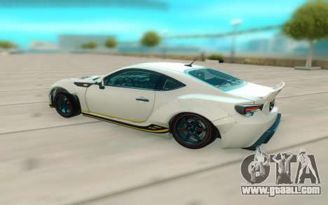Toyota GT86 RB Ft Rotiform Permaisuri for GTA San Andreas back left view
