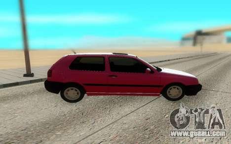 Volkswagen Golf Mk3 for GTA San Andreas left view