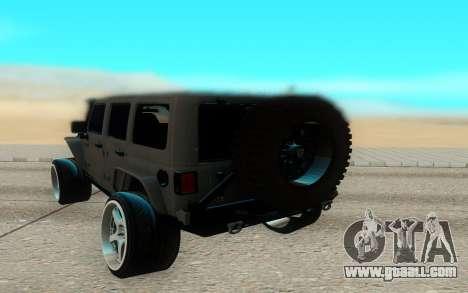 Jeep Rubicon 2012 V3 for GTA San Andreas right view