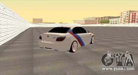 BMW M5 E60 SS (SmotraStyle) for GTA San Andreas back left view