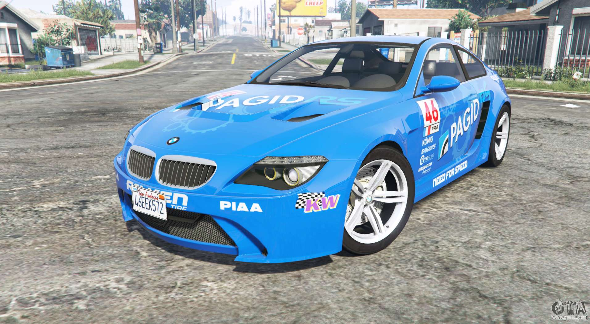 bmw m6 e63 widebody pagid rs v0 3 replace for gta 5. Black Bedroom Furniture Sets. Home Design Ideas
