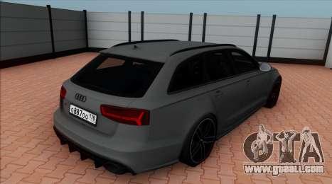 Audi RS6 Avant C7 Bulkin for GTA San Andreas left view