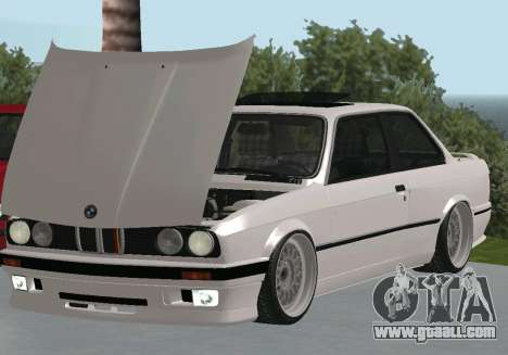 BMW 320i E30 Widebody for GTA San Andreas back left view
